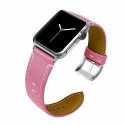 Apple Watch Leather Italy 38/40mm szíj, Pink