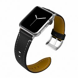 Apple Watch Leather Italy 42/44mm szíj, Black