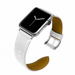Apple Watch Leather Italy 42/44mm szíj, White