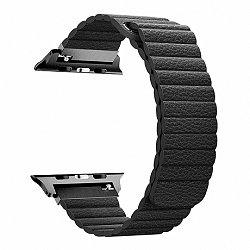 Apple Watch Leather Loop 38/40mm szíj, Black