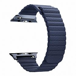 Apple Watch Leather Loop 42/44mm szíj, Dark Blue
