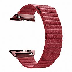Apple Watch Leather Loop 42/44mm szíj, Red