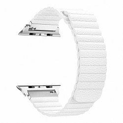 Apple Watch Leather Loop 42/44mm szíj, White