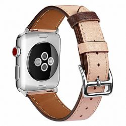 Apple Watch Leather Rome 42/44mm szíj, Apricot