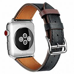 Apple Watch Leather Rome 42/44mm szíj, Black