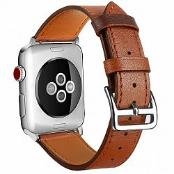 Apple Watch Leather Rome 42/44mm szíj, Brown