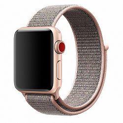 Apple Watch Nylon 42/44mm szíj, Rose Gold