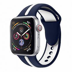 Apple Watch Silicone Line 38/40mm szíj, Blue White