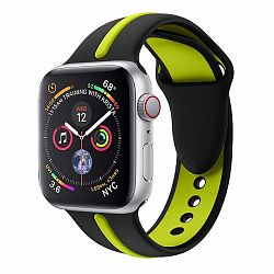 Apple Watch Silicone Line 42/44mm szíj, Black Green