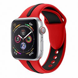 Apple Watch Silicone Line 42/44mm szíj, Red Black