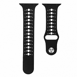 Apple Watch Silicone Sport 38/40mm szíj, Black White