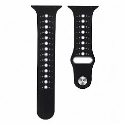Apple Watch Silicone Sport 42/44mm szíj, Black Gray