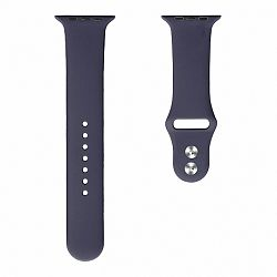 Apple Watch Soft Silicone 42/44mm szíj, Midnight Blue