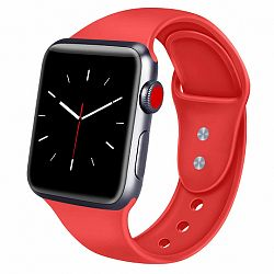 Apple Watch Soft Silicone 42/44mm szíj, Red
