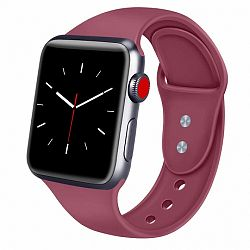 Apple Watch Soft Silicone 42/44mm szíj, Red Wine