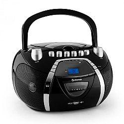 Auna Beeboy, rádiórekorder, CD, MP3, USB, fekete