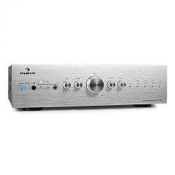 Auna CD708 stereo erősítő, AUX phono, ezüst, 600 W