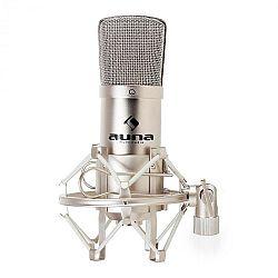 Auna CM001S stúdió kondenzátor mikrofon, ezüst