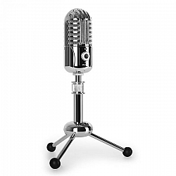 Auna CM280 USB kondenzátor mikrofon, ezüst, kardoid, stúdióM