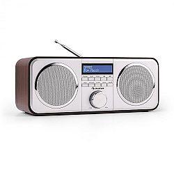 Auna Georgia DAB rádió, DAB+, FM, tárolható állomások, ébresztőóra, AUX, fekete