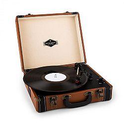Auna Jerry Lee, retró lemezjátszó, LP, USB, barna