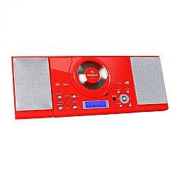 Auna MC-120, sztereó berendezés, MP3/CD lejátszó, piros
