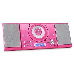 Auna MC-120, sztereó rendszer, MP3 CD lejátszó, USB, rózsaszín