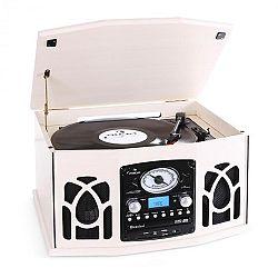 Auna NR-620 sztereó készülék, lemezjátszó, krémszínű