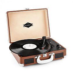 Auna Peggy Sue, retró lemezjátszó, LP, USB, barna