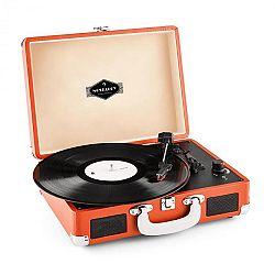 Auna Peggy Sue, retró lemezjátszó, LP, USB, narancssárga
