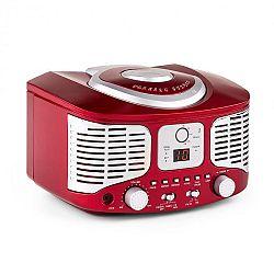Auna RCD320, retró CD lejátszó, FM, AUX, piros
