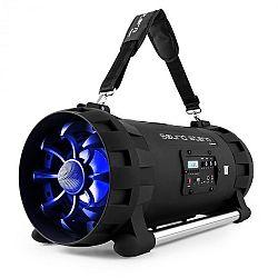 Auna Soundstorm Ghettoblaster, bluetooth, NFC, USB, akkumulátor, fekete/kék