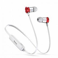 Baseus Encok Sports S07 bluetooth fülhallgató, ezüst/piros
