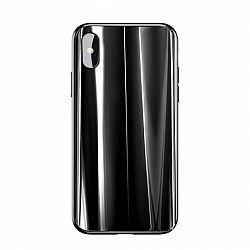 Baseus Glass Sparkling üvegezett védőtok Apple iPhone X/XS, fekete (WIAPIPHX-KI01)