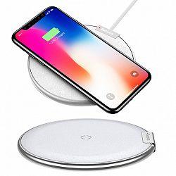 Baseus iX Wireless Charger vezeték nélküli töltő Qi, ezüst
