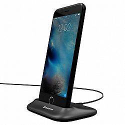 Baseus Little Volcano asztalli dokkoló Lightning, USB kábel 1m, fekete (ZCVL-01)