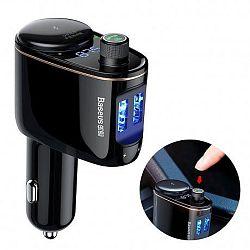 Baseus Locomotive Bluetooth FM Transmitter MP3 autós töltő 2x USB 3.4A, fekete (CCALL-RH01)