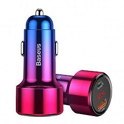 Baseus Magic Series PPS autós töltő USB Quick Charge 3.0 / USB-C QC 4.0, piros
