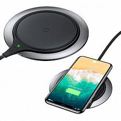 Baseus Metal Wireless Charger Qi, vezeték nélküli töltő, fekete (WXJS-A1)