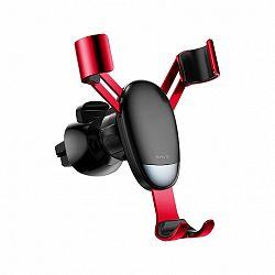 Baseus Mini Gravity autós tartó ventilációs rácsba, piros (SUYL-G09)
