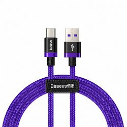 Baseus Purple Gold Red kábel USB / USB Type-C QC 3.0 1m, lila  (CATZH-A05)