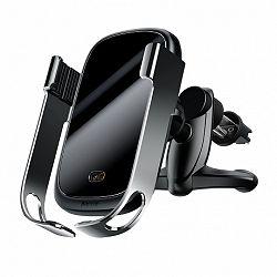 Baseus Rock Smart autós tartó, vezetéknélküli töltő Qi, infra senzor, ezüst (WXHW01-0S)