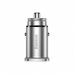 Baseus Square PPS smart autós töltő USB Quick Charge 4.0 / USB-C 3.0, ezüst