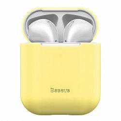 Baseus Ultrathin Series Silica szilikon tok Airpods 1/2, sárga (WIAPPOD-BZ0Y)