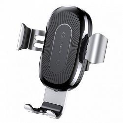 Baseus Wireless Charger Gravity autós tartó, ezüst (WXYL-0S)