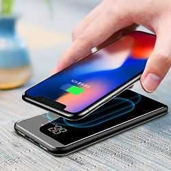 Baseus Wireless Charger Power Bank Qi 8000 mAh vezeték nélküli töltő, fekete (PPALL-EX01)