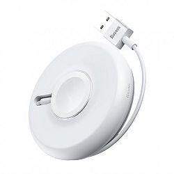 Baseus YOYO Apple Watch vezeték nélküli töltő, 1m kábel, fehér (WXYYQIW03-02)