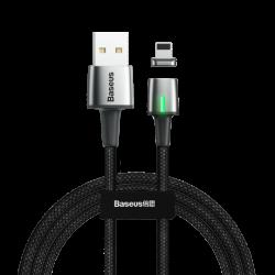 Baseus Zinc mágneses kábel USB / Lightning 1m, fekete