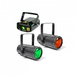 Beamz Light Package 2, disco fényhatás készlet, 2 x fényhatás, 1 x lézer