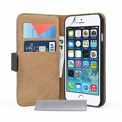 Caseflex bőrtok Real Leather iPhone 6/6s Fekete